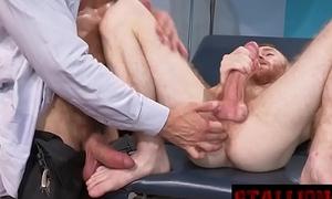 Gay doctor performing colonoscopy with his blarney