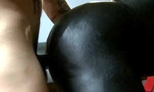 Sub cocksucks doms chubby cock before 4 way