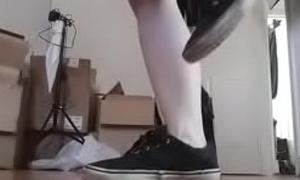 Navy Vans Sneakers Trainers Shoes Foot Fetish teen