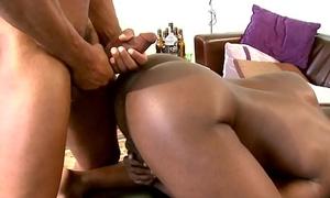 Rimmed black jock sucking dick exceeding his knees