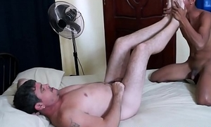 Young Oriental asshole lovingly stretched at the end of one's tether raw cock daddy