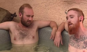 Red-Haired Tatted Guy Receives Oral sex from Hairy Cub