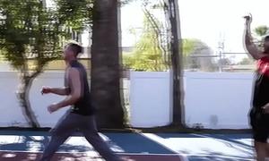 Jocks play basketball &amp_ fuck - bbc gay interracial porn