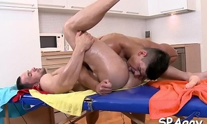 Forlorn hunk gets a raucous irrumation delight from twink