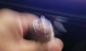 Ejaculation in Japanese Masturbation Condom