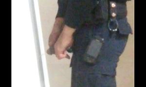 Spy on policeman pissing