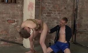 Tied up Lyle Boyce rimmed vanguard seem like anal dicking