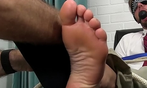 Good looking stud tied up and gagged greatest extent start-up sucked