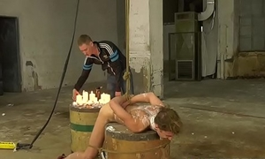 Waxed twink Ariel Black anally pounded with maledom cock