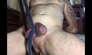 Kicking my big cock hard 1