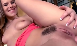 Amateur 19 year old opens her exit for a toy and big cock