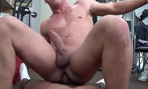 Doggystyled stud amateur fucked at casting
