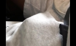 Rub sleeping pro Basketball player'_s cock on plane.2 dormido bolto abusando