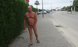 Russian exhibitionist here the Spanish city
