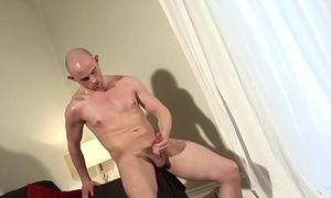 Scally UK stud jerking his enduring dick