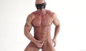 Straight Big Dick VERY Muscular Solo Amateur Masturbates 4 U