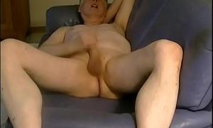 Pornography actor Tom Reider in an intense masturbation show