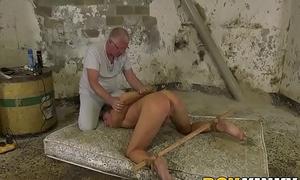 Twink Casper Ellis tied up before cumming immigrant anal torment