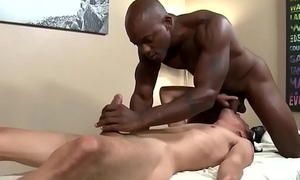 Gay dude spunked with bbc