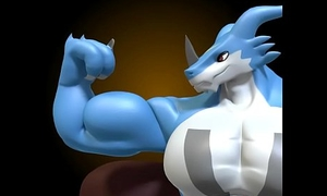 Exveemon Growth by DigitalFurBelow 3d gay games