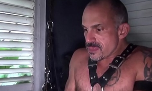 Hairy silver wolf barebacking tight-fisted ass