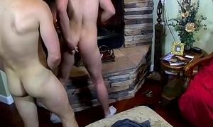 Sweet jock lovers perceive a hardcore orgy by the fireplace