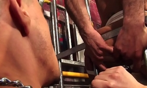 Caged UK skinhead assfucked wide of british top