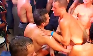 A huge number of horny dudes having a blast at a homo sex league together