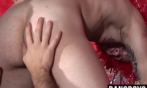 Festive hunks pumping raw horseshit into each others tight asses