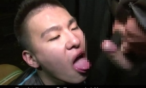 Japanese many DICK blowjob