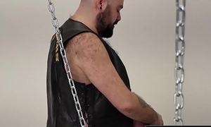 Hairy fat bear fucks his bottom bitch deny hard pressed on a catch sex pull off