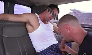 Found homo services straighty dick in public while driving