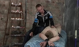 Young Nickie Smalls feet used for masturbation by Master