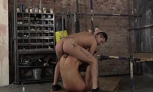 Bound sub twink fingered strong the ocean and ass drilled by maledom