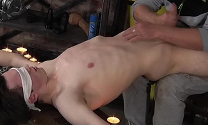 Sebastian Kane penalizes subtwink Eli Manuel with hot wax