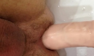 Huge Dildo Yawning chasm and Painful Anal Flier