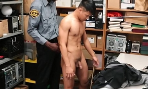 Straight Asian Twink Caught Shoplifting Fucked By Gloomy Gay Officer