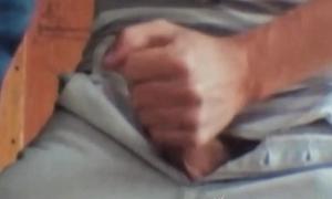 Handsome homo strokes BBC while deviants bareback vigorously