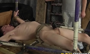 CBT twink goes through hard BDSM dom treatment