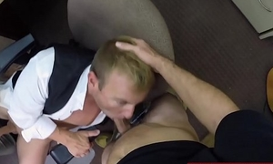 Straight dude blows and gets ass pounded by kinky studs