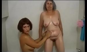 Mature horny hottie takes care of junior girl