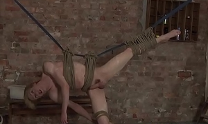 Roped up twink earns cock in mouth and ass the lasting way