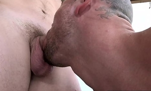 Village jock gets his ass worked away from hunky homo outdoors