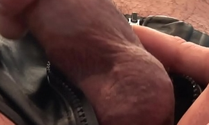 Ripped UK hooligan tugging his dong