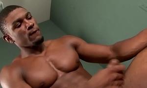 Black hunk jerks in gym foretoken evidence porn