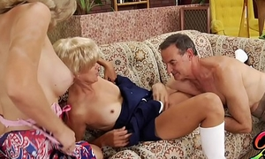 Not An obstacle Bradys XXX Milfs Alana Evans &amp_ Payton Leigh Swap Turns On Old Guys Cock