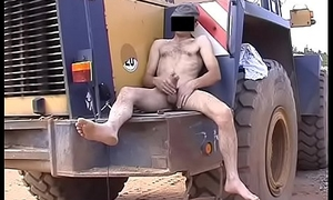 Horny institutor busts a nut barefoot naked