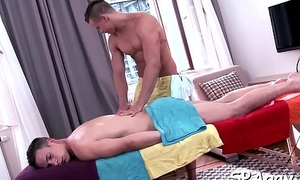 Pleasurable blowjob with sexy homo couple