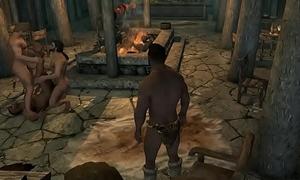 Skyrim - Machos na Taverna
