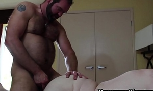 Small cock bear makes his lover cum after breeding hard